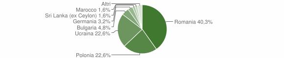 Grafico cittadinanza stranieri - Gesualdo 2011