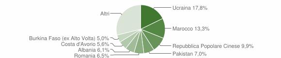 Grafico cittadinanza stranieri - Cardito 2018