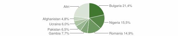 Grafico cittadinanza stranieri - Sant'Angelo dei Lombardi 2018