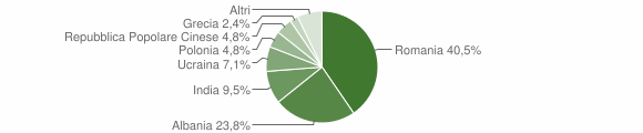 Grafico cittadinanza stranieri - Conca della Campania 2019