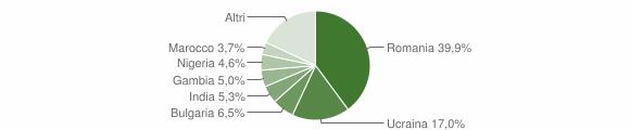 Grafico cittadinanza stranieri - Polla 2018