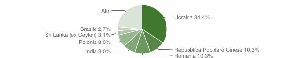Grafico cittadinanza stranieri - Cercola 2019