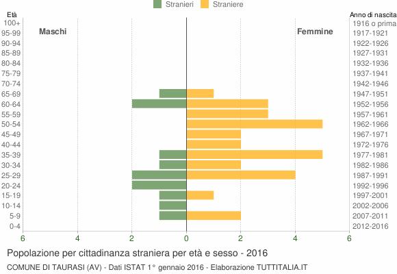 Grafico cittadini stranieri - Taurasi 2016