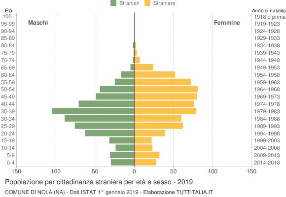 Grafico cittadini stranieri - Nola 2019