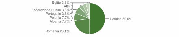 Grafico cittadinanza stranieri - Durazzano 2009