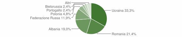 Grafico cittadinanza stranieri - Durazzano 2013