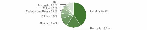Grafico cittadinanza stranieri - Durazzano 2018