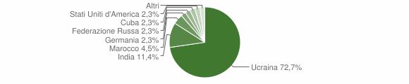 Grafico cittadinanza stranieri - Furore 2019