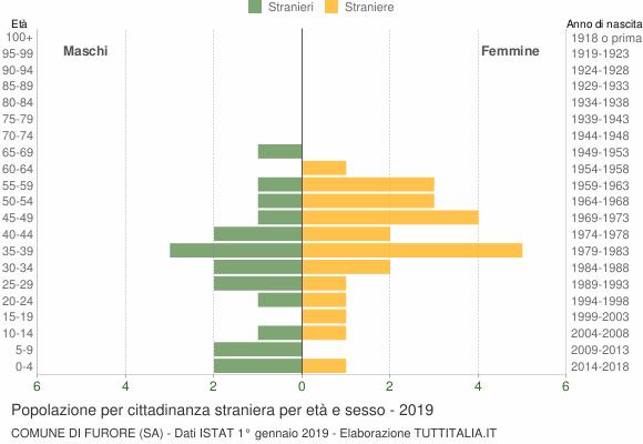 Grafico cittadini stranieri - Furore 2019