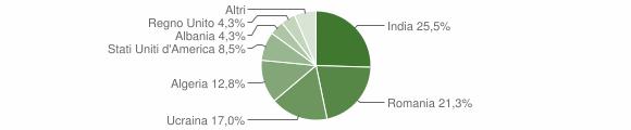 Grafico cittadinanza stranieri - Ruviano 2011