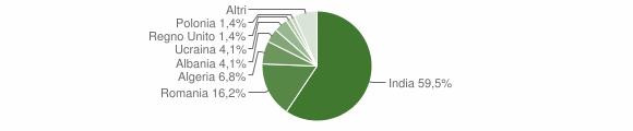 Grafico cittadinanza stranieri - Ruviano 2018