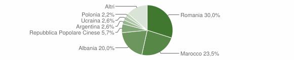 Grafico cittadinanza stranieri - Montella 2010