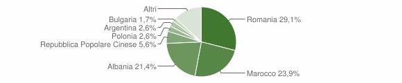 Grafico cittadinanza stranieri - Montella 2011