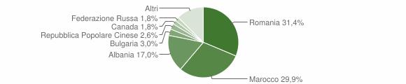 Grafico cittadinanza stranieri - Montella 2018