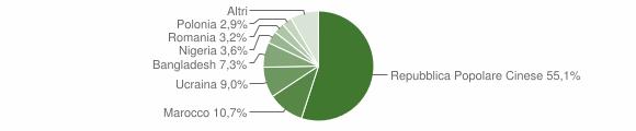 Grafico cittadinanza stranieri - Terzigno 2019
