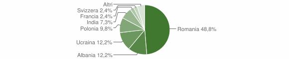 Grafico cittadinanza stranieri - Castel Campagnano 2012