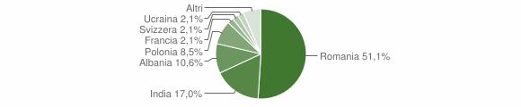 Grafico cittadinanza stranieri - Castel Campagnano 2018