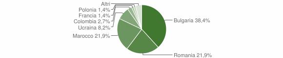 Grafico cittadinanza stranieri - Teora 2017
