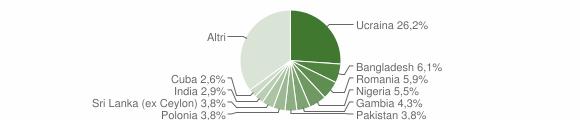 Grafico cittadinanza stranieri - Ercolano 2019