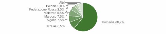 Grafico cittadinanza stranieri - Solopaca 2011