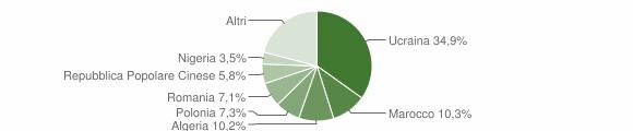 Grafico cittadinanza stranieri - Aversa 2015