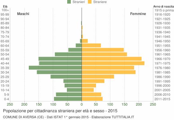 Grafico cittadini stranieri - Aversa 2015