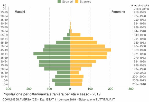 Grafico cittadini stranieri - Aversa 2019