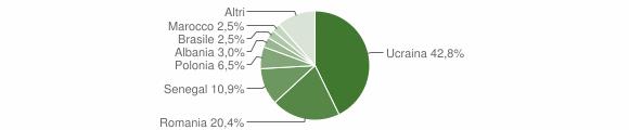 Grafico cittadinanza stranieri - Fisciano 2007