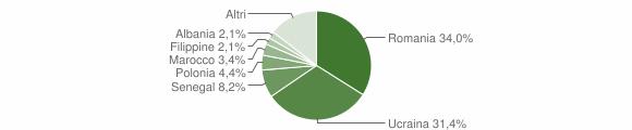 Grafico cittadinanza stranieri - Fisciano 2010