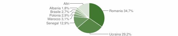 Grafico cittadinanza stranieri - Fisciano 2012