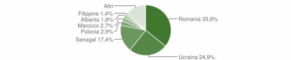 Grafico cittadinanza stranieri - Fisciano 2014