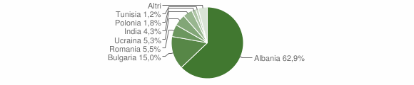 Grafico cittadinanza stranieri - Sparanise 2019