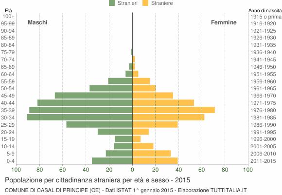 Grafico cittadini stranieri - Casal di Principe 2015