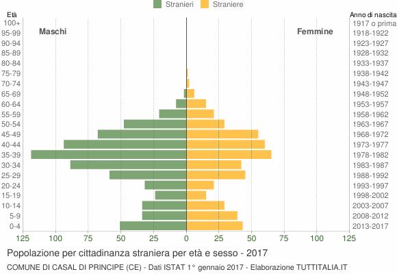 Grafico cittadini stranieri - Casal di Principe 2017