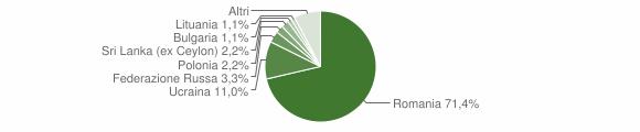 Grafico cittadinanza stranieri - Cerreto Sannita 2019