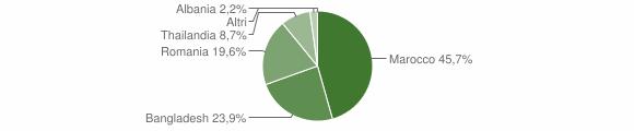 Grafico cittadinanza stranieri - Savignano Irpino 2017