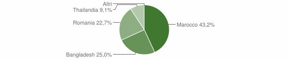 Grafico cittadinanza stranieri - Savignano Irpino 2018