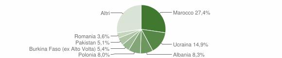 Grafico cittadinanza stranieri - Succivo 2016