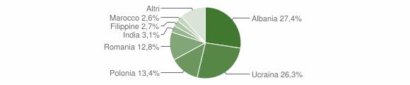 Grafico cittadinanza stranieri - Capua 2013