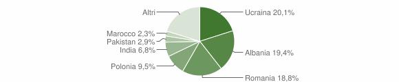 Grafico cittadinanza stranieri - Capua 2019