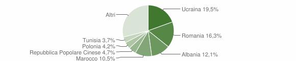 Grafico cittadinanza stranieri - Capodrise 2013
