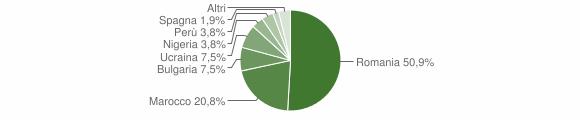 Grafico cittadinanza stranieri - Vallata 2010