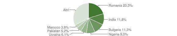 Grafico cittadinanza stranieri - Pietradefusi 2018