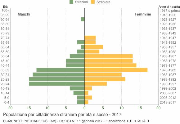 Grafico cittadini stranieri - Pietradefusi 2017