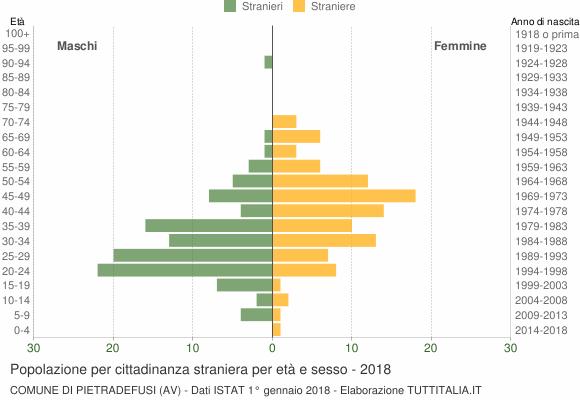 Grafico cittadini stranieri - Pietradefusi 2018