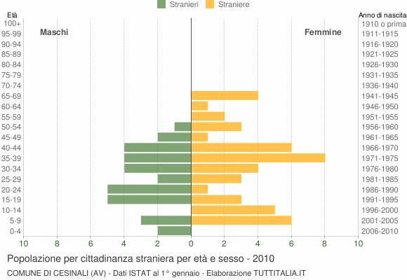 Grafico cittadini stranieri - Cesinali 2010