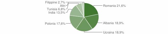 Grafico cittadinanza stranieri - Santa Maria la Fossa 2010