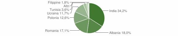Grafico cittadinanza stranieri - Santa Maria la Fossa 2011