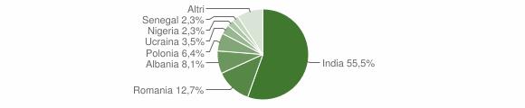 Grafico cittadinanza stranieri - Santa Maria la Fossa 2017