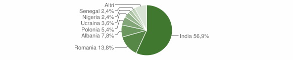 Grafico cittadinanza stranieri - Santa Maria la Fossa 2018